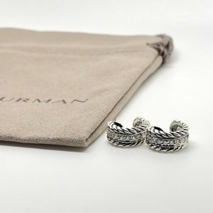 David Yurman Cable Classic Huggie Diamond Earrings